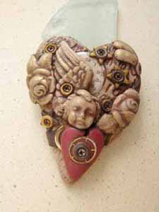 Marie Segal's Heart of Stone Brooch 1 - Click this picture to go to Maries's Etsy Store